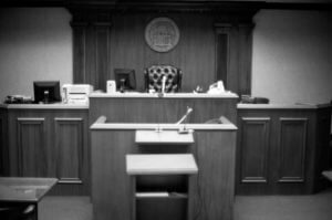 Courtroom Trial During a Divorce