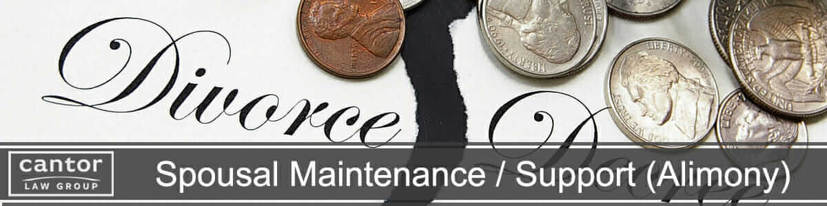 Spousal Maintenance, Support & Alimony