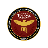 Nation's Top 1% Attorney National Association of Distinguished Counsel